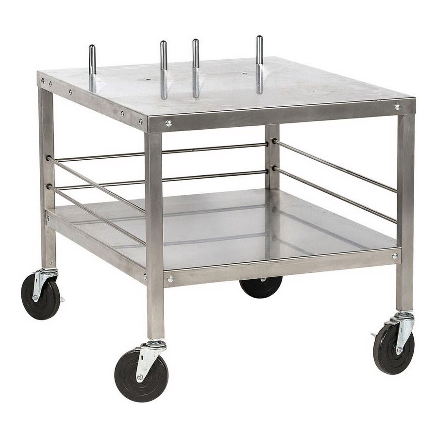 "Hobart TABLEHW-HL2012 27"" Mixer Table w/ All Stainless Undershelf Base, Mobile, 32""D"