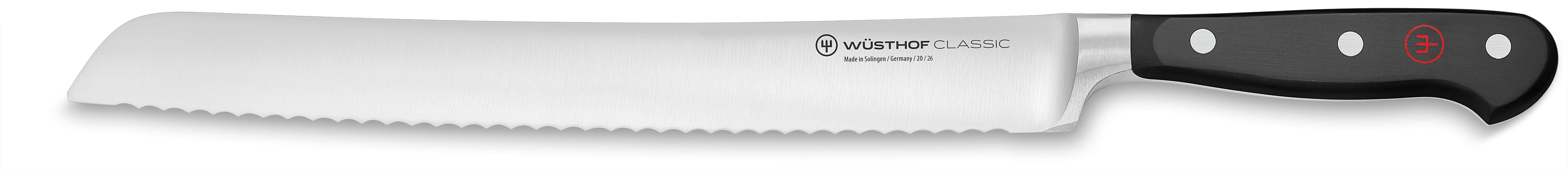 "Wusthof 4151-7 10"" Bread Knife - Serrated Edge, Full Tang, Forged"