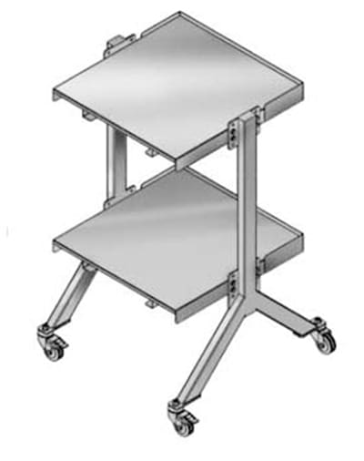 """Merrychef STACK48 48"""" Double Oven Cart w/ Heavy Duty Stem Casters, For Double e4"""