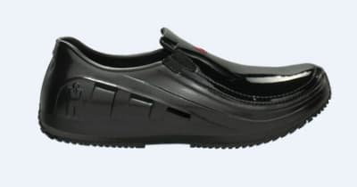 Mozo 3728 5 Womens Lightweight Shoes w/ Side Ventilation & Gel Insoles, Patent Black, Size 5