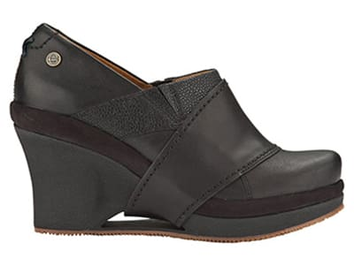 Mozo 3731 BLK 65 Womens Divine Shoes w/ Elasticized Entry & 3-in Heel, Black, Size 6.5