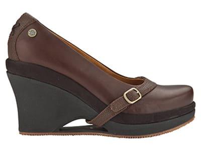 "Mozo 3732 BRN 8 Womens Fresco Shoes w/ Elasticized Entry & 3"" Heel, Brown, Size 8"