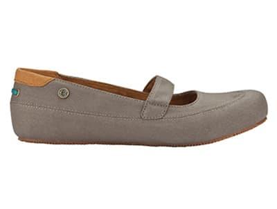 Mozo 3736 WAL 7.5 Womens Fab Shoes w/ Elasticized Entry & Lightweight, Canvas, Walnut, Size 7.5