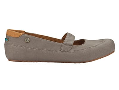 Mozo 3736 WAL 8 Womens Fab Shoes w/ Elasticized Entry & Lightweight, Canvas, Walnut, Size 8