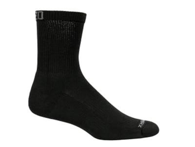 Mozo 373P S Crew Socks w/ Drymax Technology, Black, Size Small