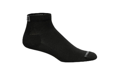 Mozo 374P XL Quarter Crew Socks w/ Drymax Technology, Black, Size Extra Large