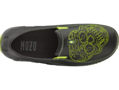 Mozo 3821 BKNG 10 Mens Lightweight Shoes w/ Ventilation & Gel Insoles, Green Sugar Skull, Size 10
