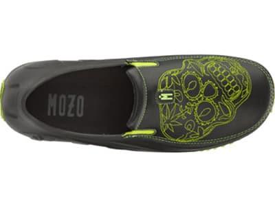 Mozo 3821 BKNG 11 Mens Lightweight Shoes w/ Ventilation & Gel Insoles, Green Sugar Skull, Size 11