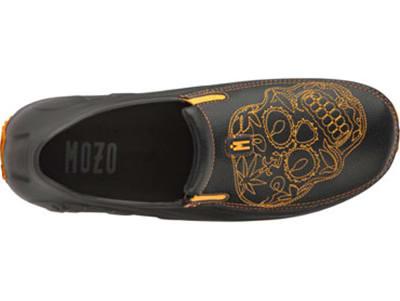Mozo 3821 BKO 11 Mens Lightweight Shoes w/ Ventilation & Gel Insoles, Orange Sugar Skull, Size 11