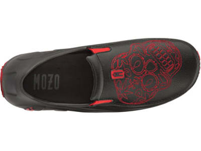 Mozo 3821 BLK14 Mens Lightweight Shoes w/ Ventilation & Gel Insoles, Red Sugar Skull, Size 14