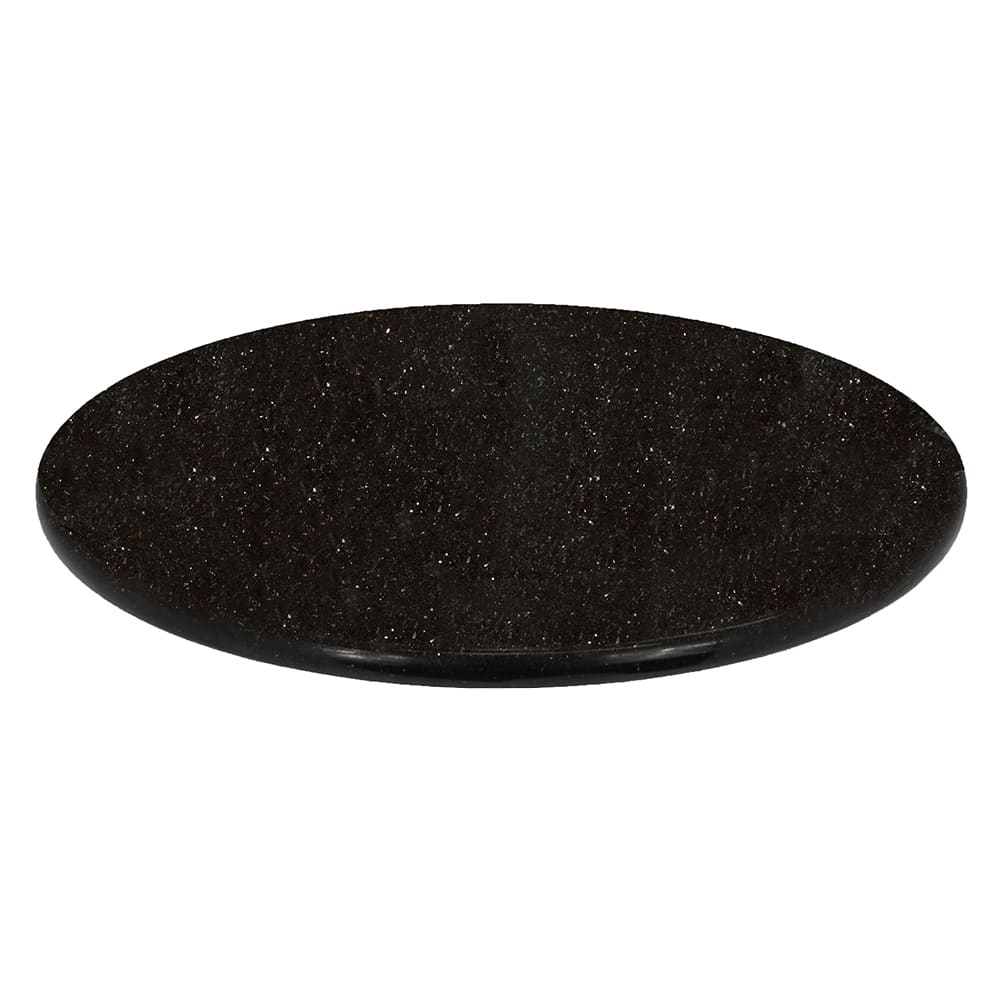 "Art Marble G206-24RD 24"" Round Granite Table Top - Indoor/Outdoor, Black Galaxy"