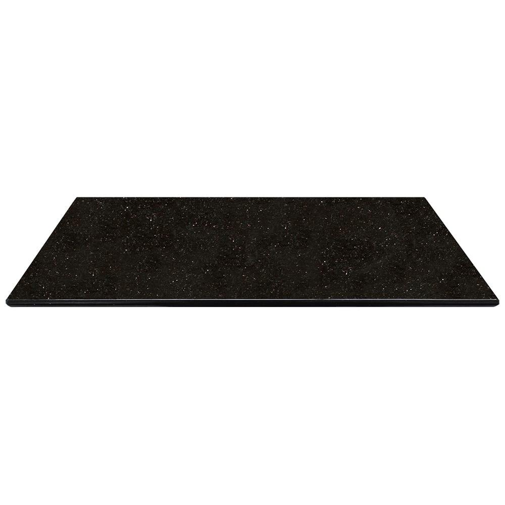 """Art Marble G206-30X42 30"""" x 42"""" Rectangular Granite Table Top - Indoor/Outdoor, Black Galaxy"""