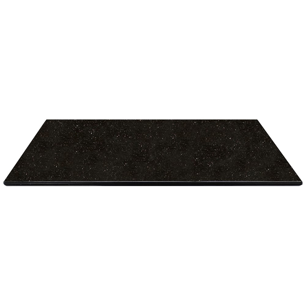 "Art Marble G206-30X48 30"" x 48"" Rectangular Granite Table Top - Indoor/Outdoor, Black Galaxy"
