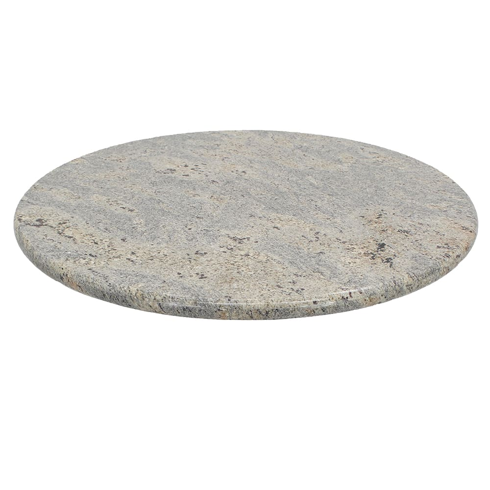 "Art Marble G208-24RD 24"" Round Granite Table Top - Indoor/Outdoor, Kashmir White"