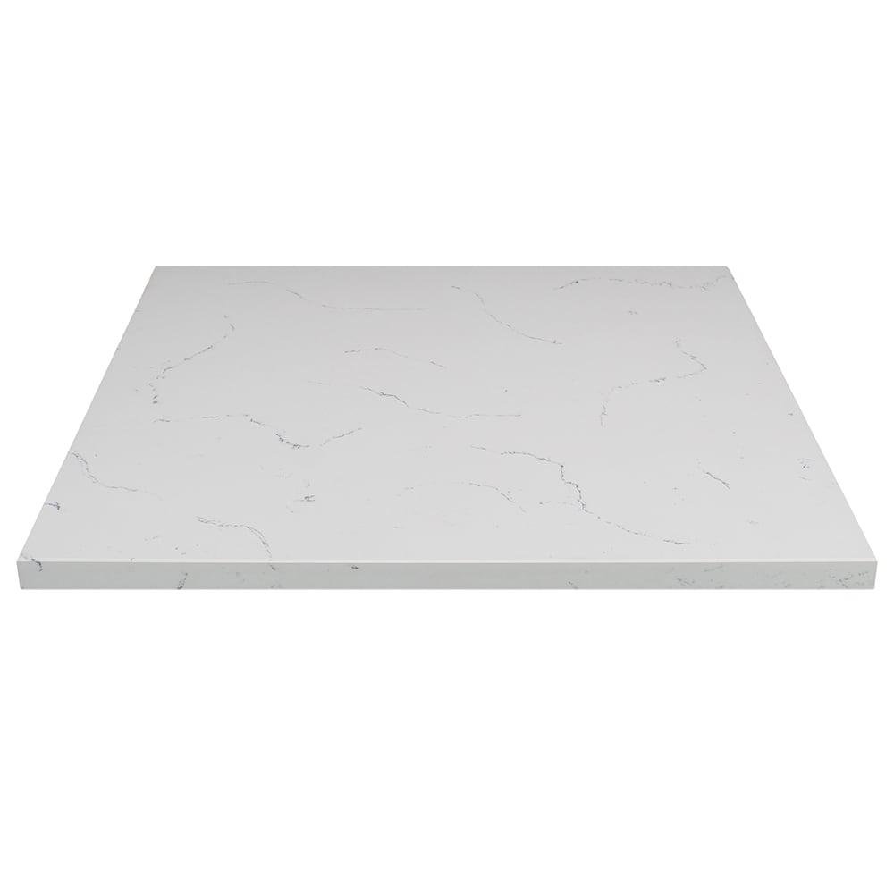 "Art Marble Q401-30X30 30"" x 30"" Quartz Table Top - Indoor/Outdoor, Carrera White"