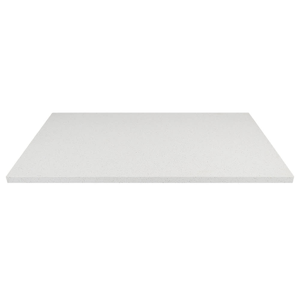 "Art Marble Q403-30X48 30"" x 48"" Quartz Table Top - Indoor/Outdoor, Snow White"