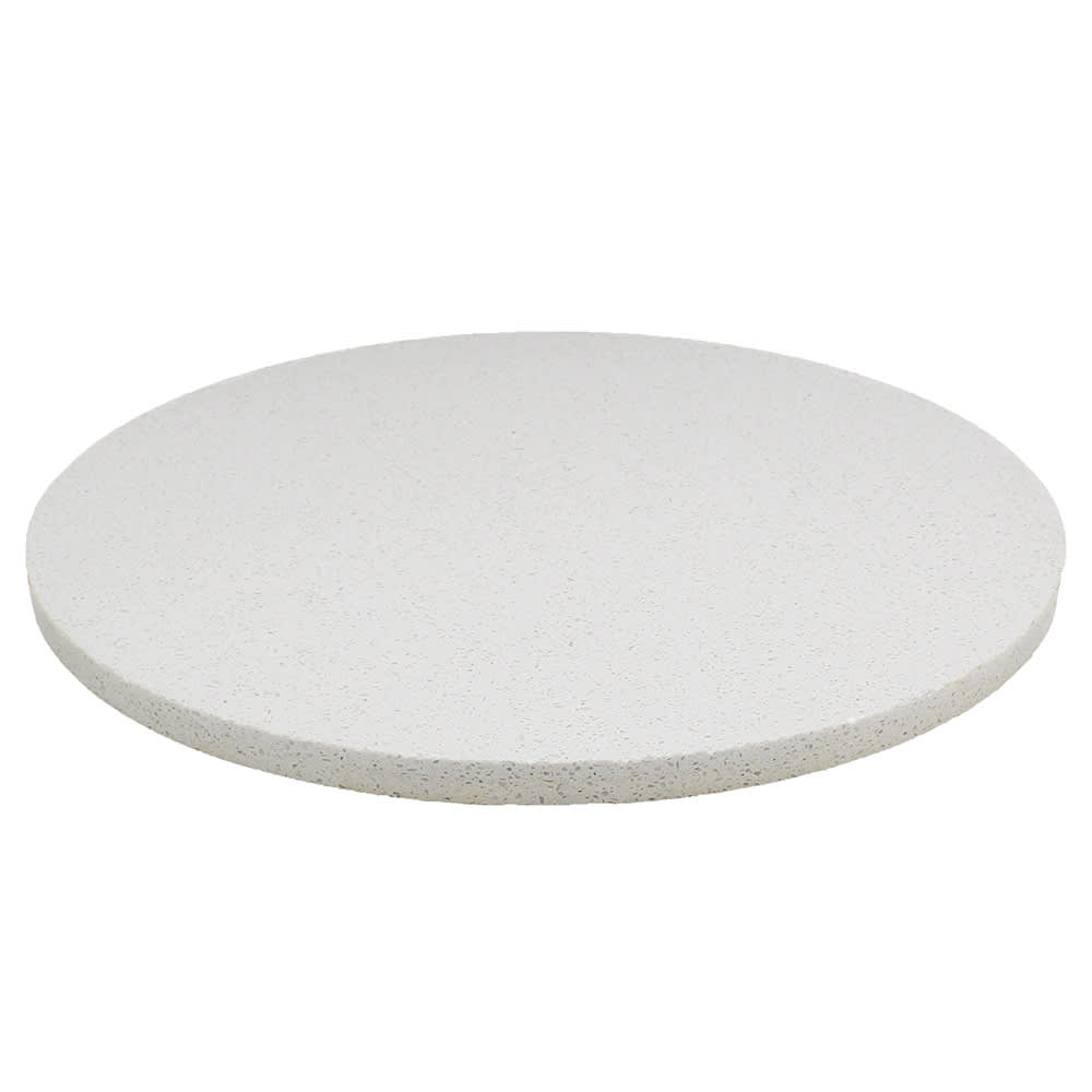 "Art Marble Q403-36R 36"" Round Quartz Table Top - Indoor/Outdoor, Snow White"