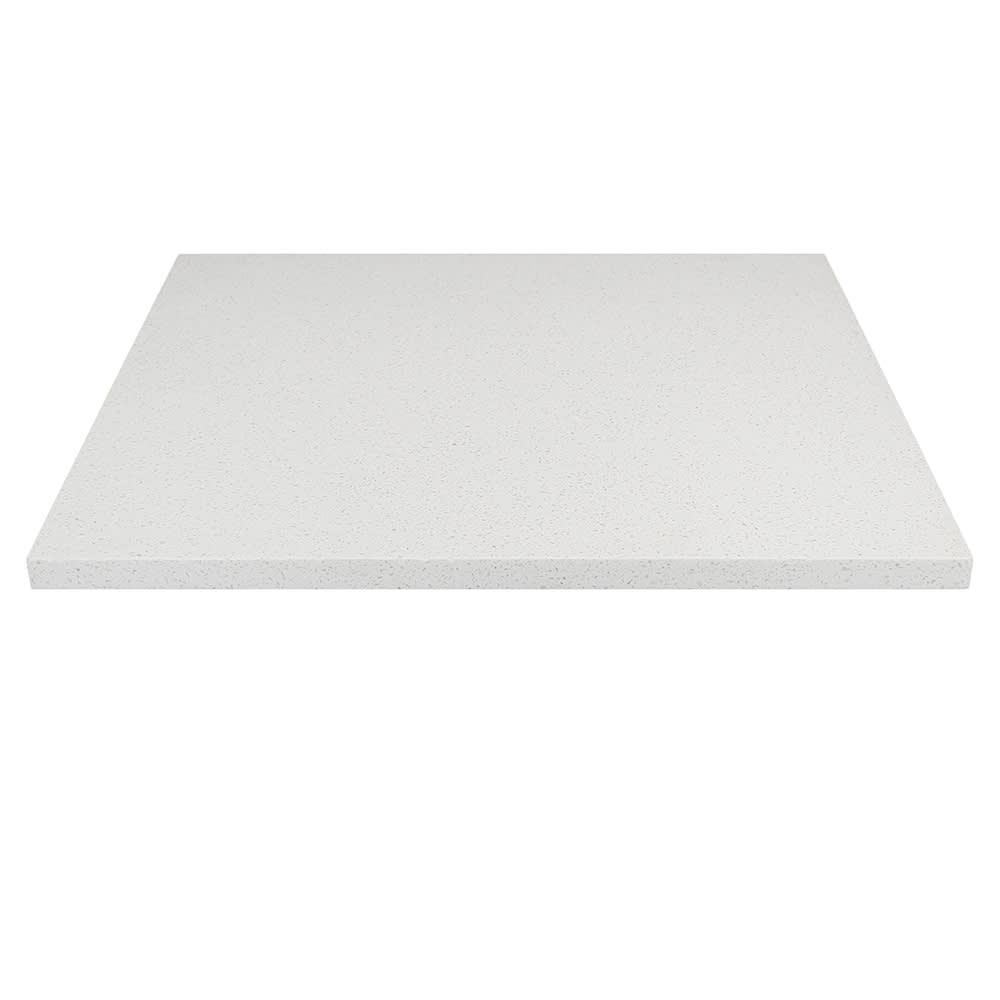 """Art Marble Q403-36X36 36"""" x 36"""" Quartz Table Top - Indoor/Outdoor, Snow White"""