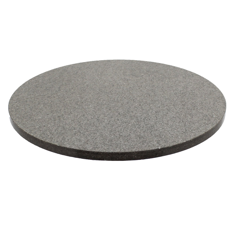 "Art Marble Q405-24R 24"" Round Quartz Table Top - Indoor/Outdoor, Storm Gray"