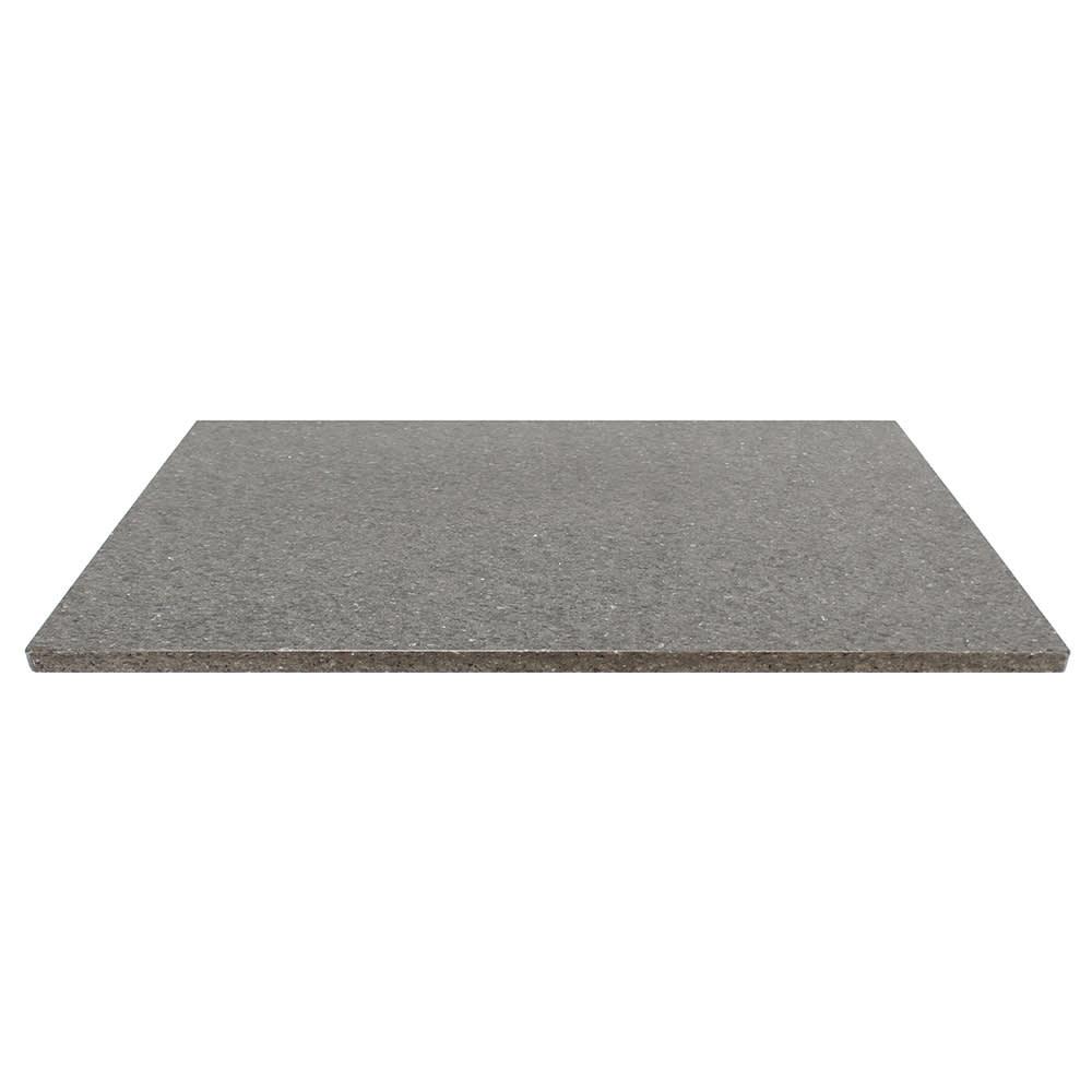 "Art Marble Q405-24X30 24"" x 30"" Quartz Table Top - Indoor/Outdoor, Storm Gray"