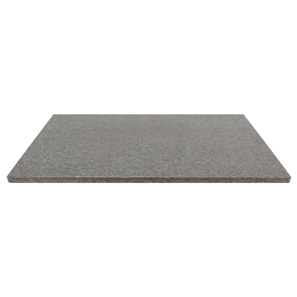 "Art Marble Q405-30X48 30"" x 48"" Quartz Table Top - Indoor/Outdoor, Storm Gray"