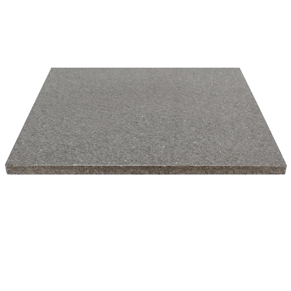 "Art Marble Q405-36X36 36"" x 36"" Quartz Table Top - Indoor/Outdoor, Storm Gray"