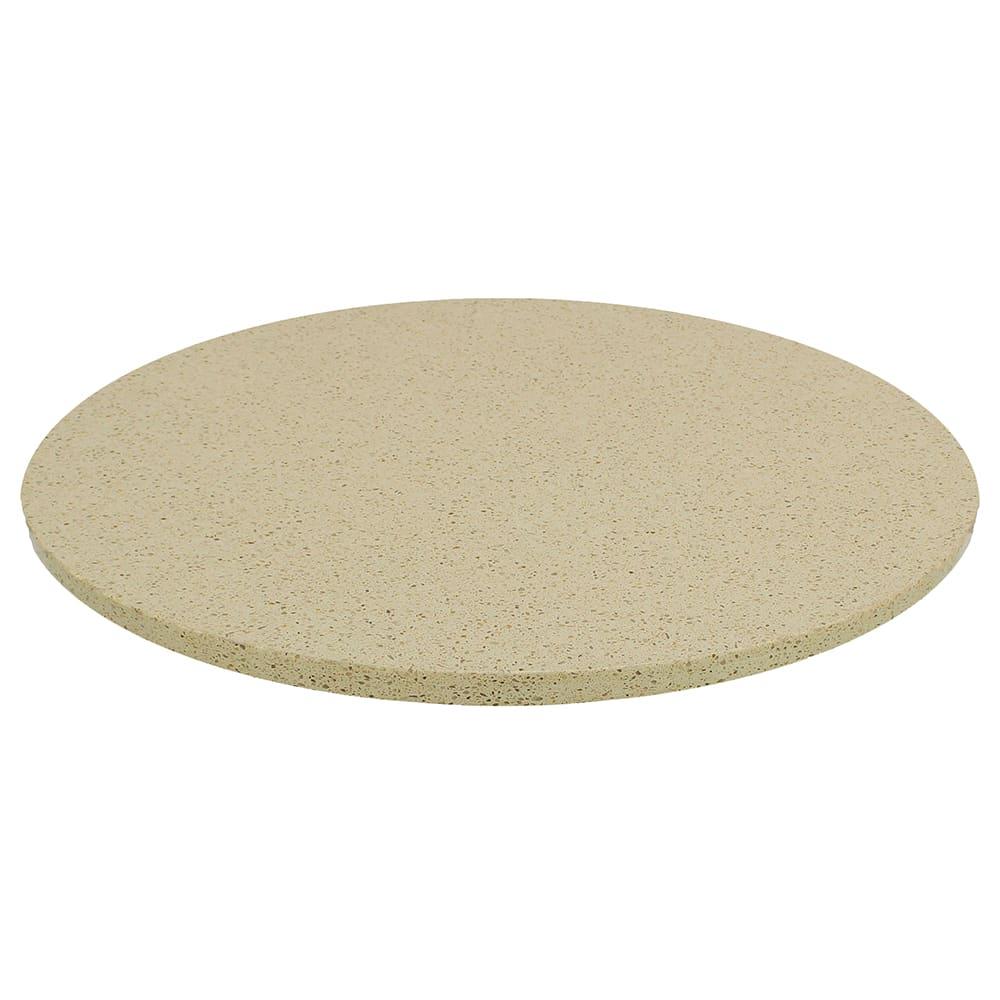 "Art Marble Q407-24R 24"" Round Quartz Table Top - Indoor/Outdoor, Cambrian Gold"
