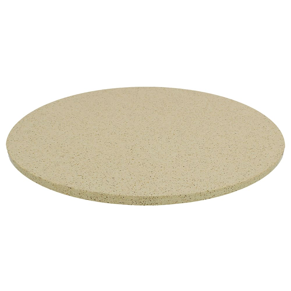"Art Marble Q407-36R 36"" Round Quartz Table Top - Indoor/Outdoor, Cambrian Gold"