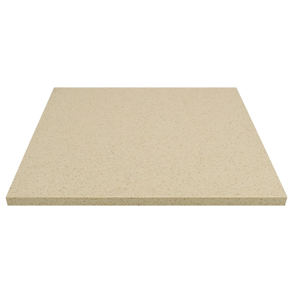 """Art Marble Q407-36X36 36"""" x 36"""" Quartz Table Top - Indoor/Outdoor, Cambrian Gold"""