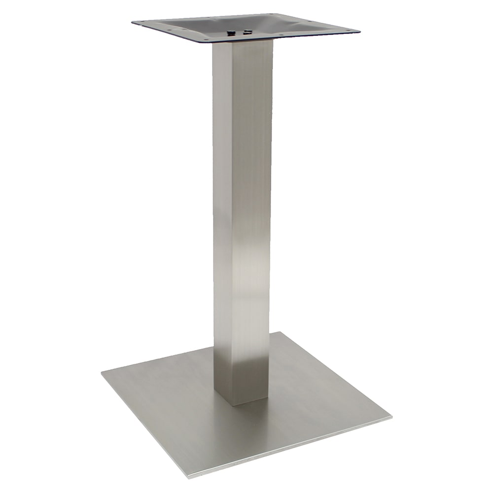"Art Marble SS0523D 28.75"" Square Table Base - Indoor/Outdoor, Dining Height, Stainless"