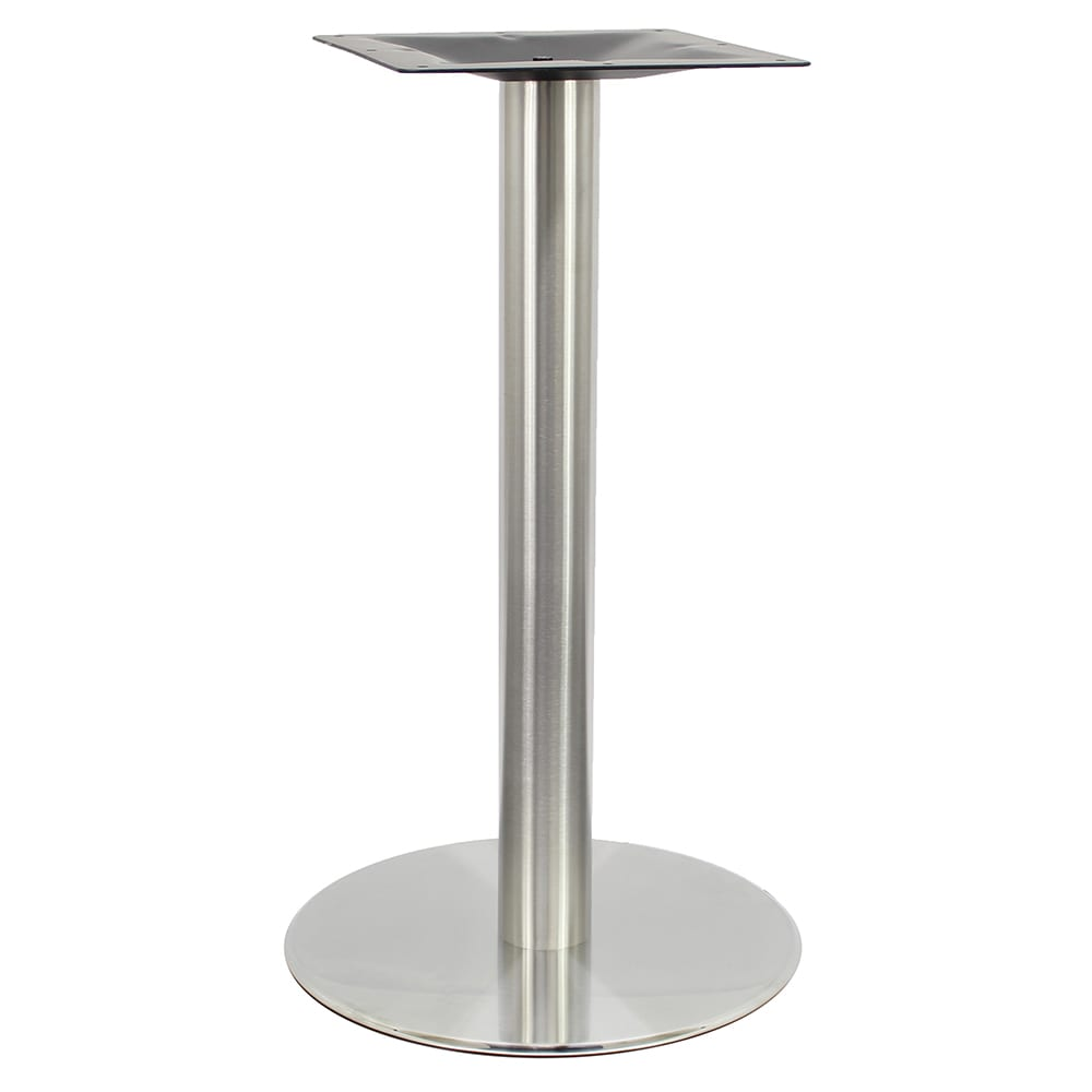 """Art Marble SS14-23D 29"""" Round Base - Indoor/Outdoor, Dining Height, Stainless"""