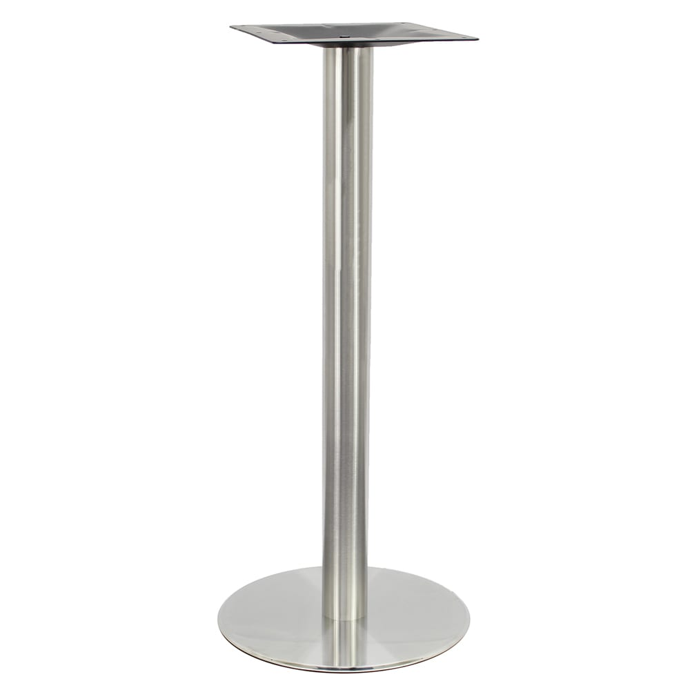 """Art Marble SS14-23H 40.75"""" Round Base - Indoor/Outdoor, Bar Height, Stainless"""