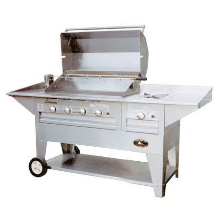 """Big Johns Grills & Rotisseries 210-40/20M 40"""" Mobile Gas Commercial Outdoor Grill w/ Rotisserie, LP"""