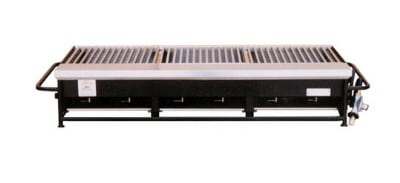 Big Johns Grills & Rotisseries A3P-LPCI 6-Burner Portable Gas Grill w/ Cast Iron Grates