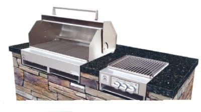 Big Johns Grills & Rotisseries A3TS-LPCI Built-In Grill w/ 6-Burner, Cast Iron Grates, LP
