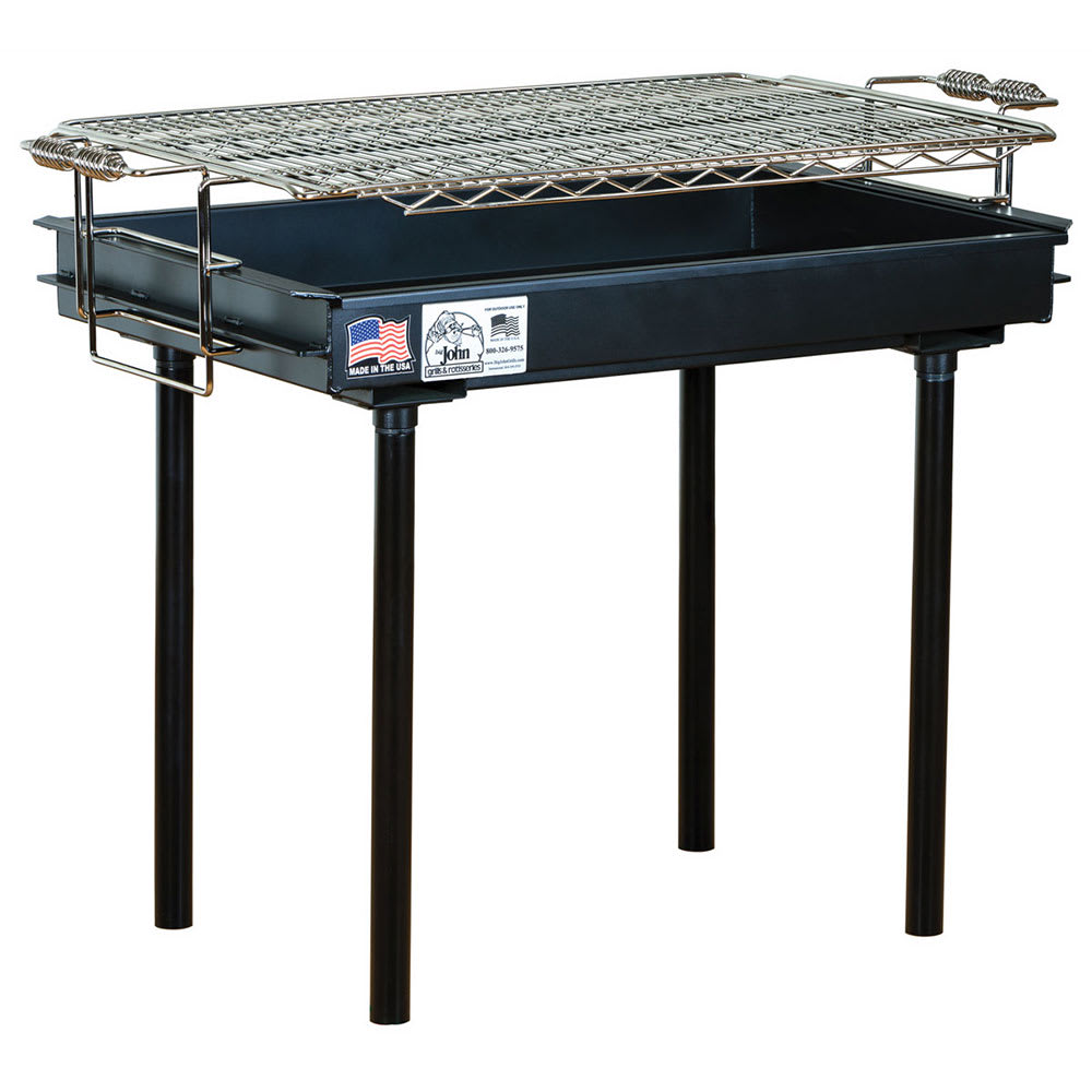 "Big Johns Grills & Rotisseries M-13AB 36"" Stationary Charcoal Commercial Outdoor Grill w/ Painted Finish"