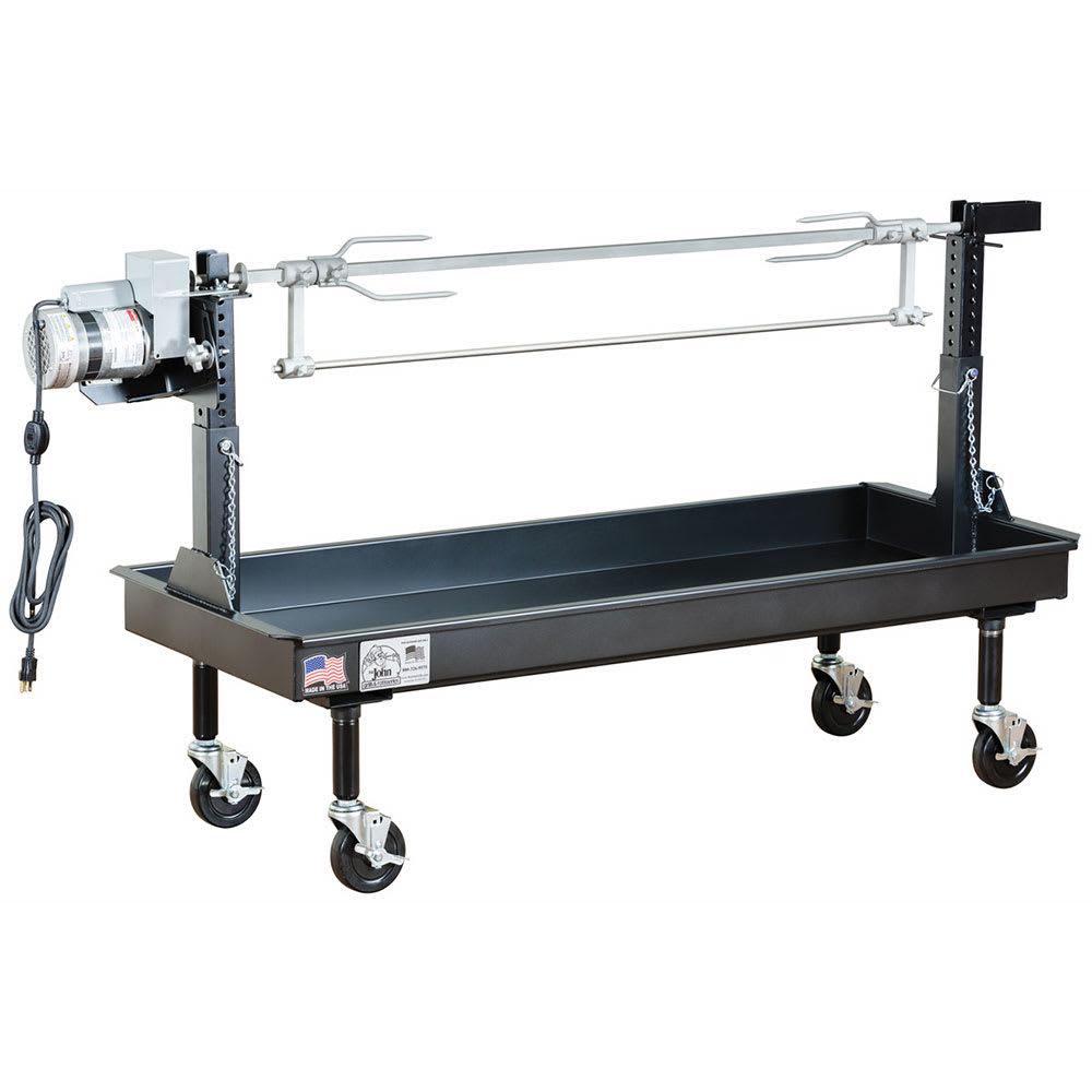 """Big Johns Grills & Rotisseries M-35B 60"""" Mobile Charcoal Commercial Outdoor Rotisserie w/ Painted Finish"""