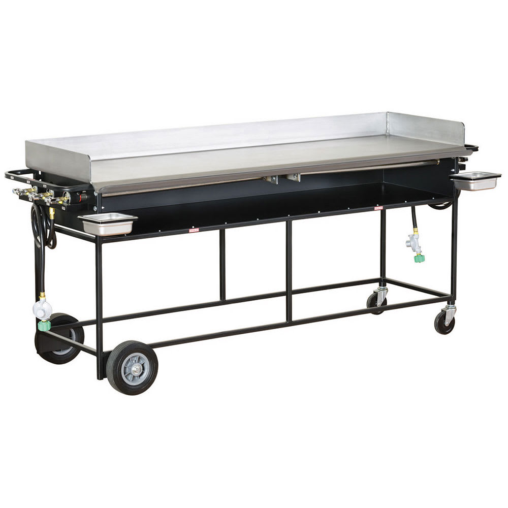 "Big Johns Grills & Rotisseries PG-72S 20 x 72"" Griddle w/ Stand"