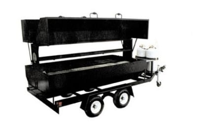 Big Johns Grills & Rotisseries RW6DDG 6-ft Double Door Towable Propane Grill