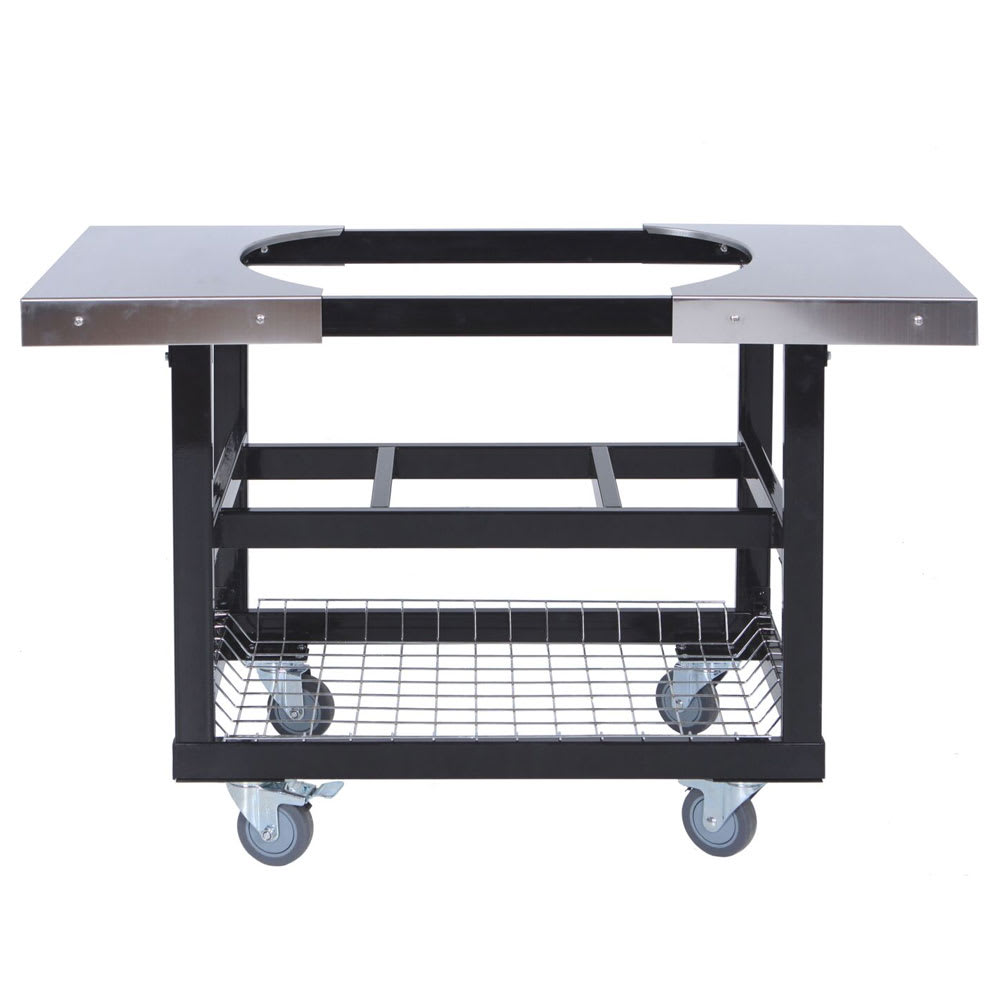 Primo PRM370 Cart w/ Basket & Stainless Steel Side Table For Large & XL Oval