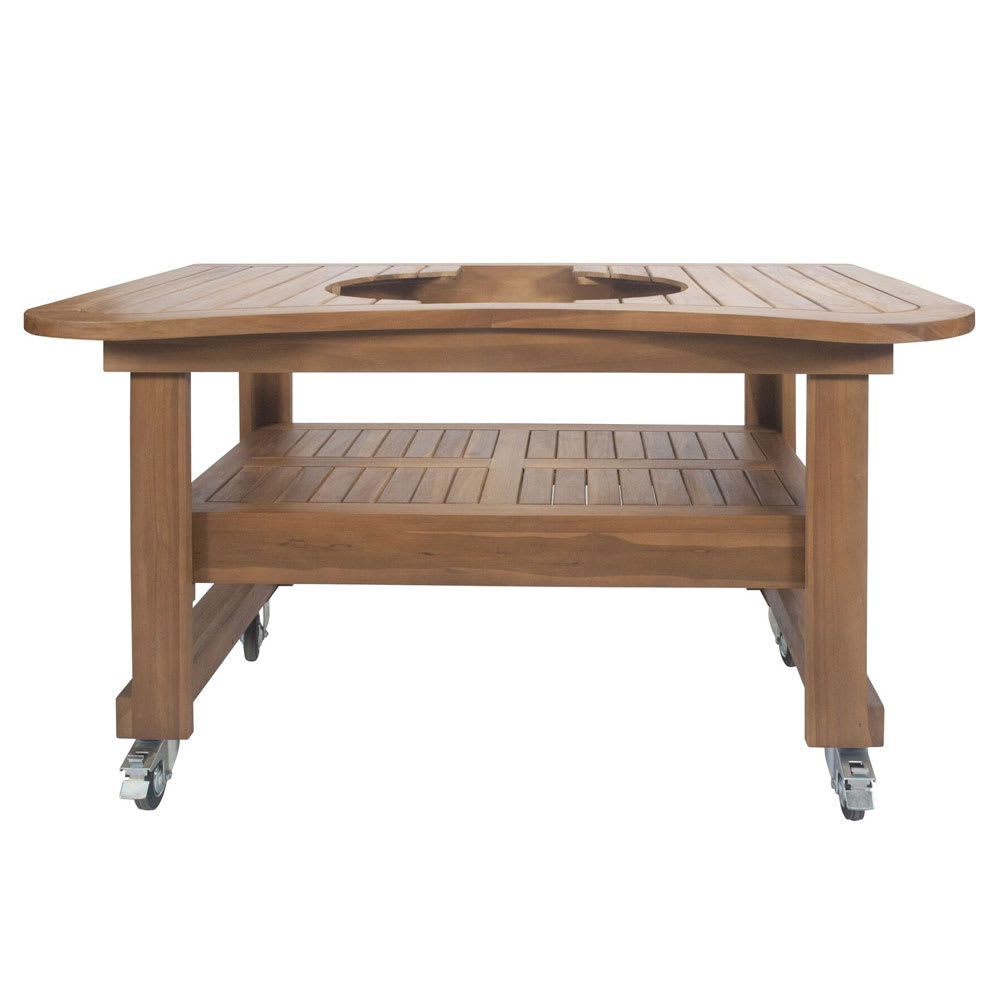 """Primo PRM603 Teak Table for Oval XL, 61 x 38 x 32"""""""