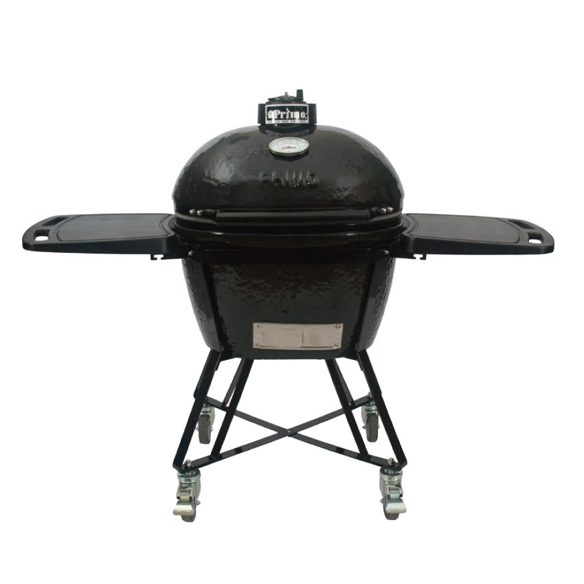 Primo PRM7500 Oval LG All-In-One Grill w/ 300-sq in Cooking Surface - Ceramic, Black