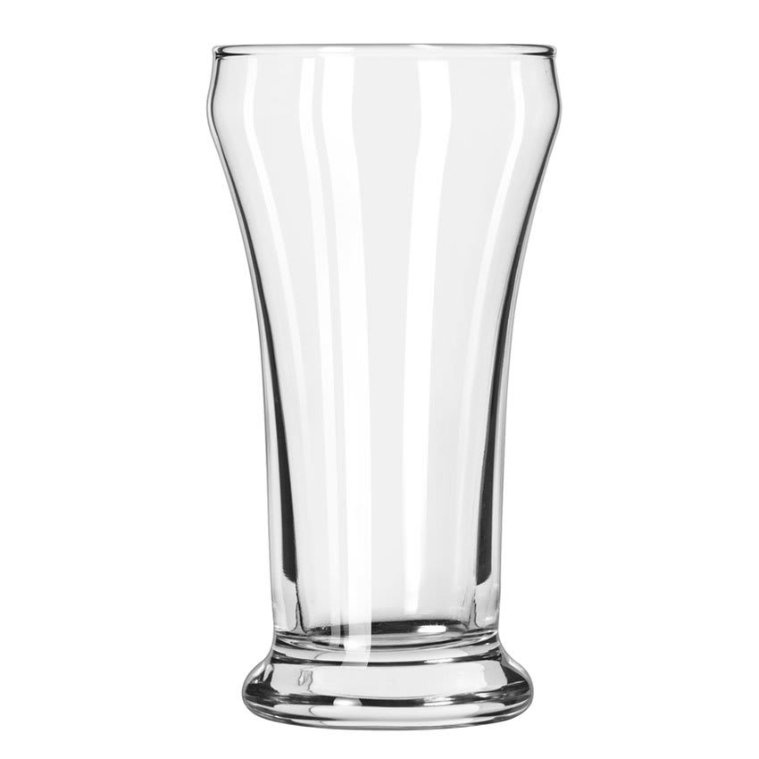 Libbey 15 7 oz Heavy Base Pilsner Glass - Safedge Rim Guarantee