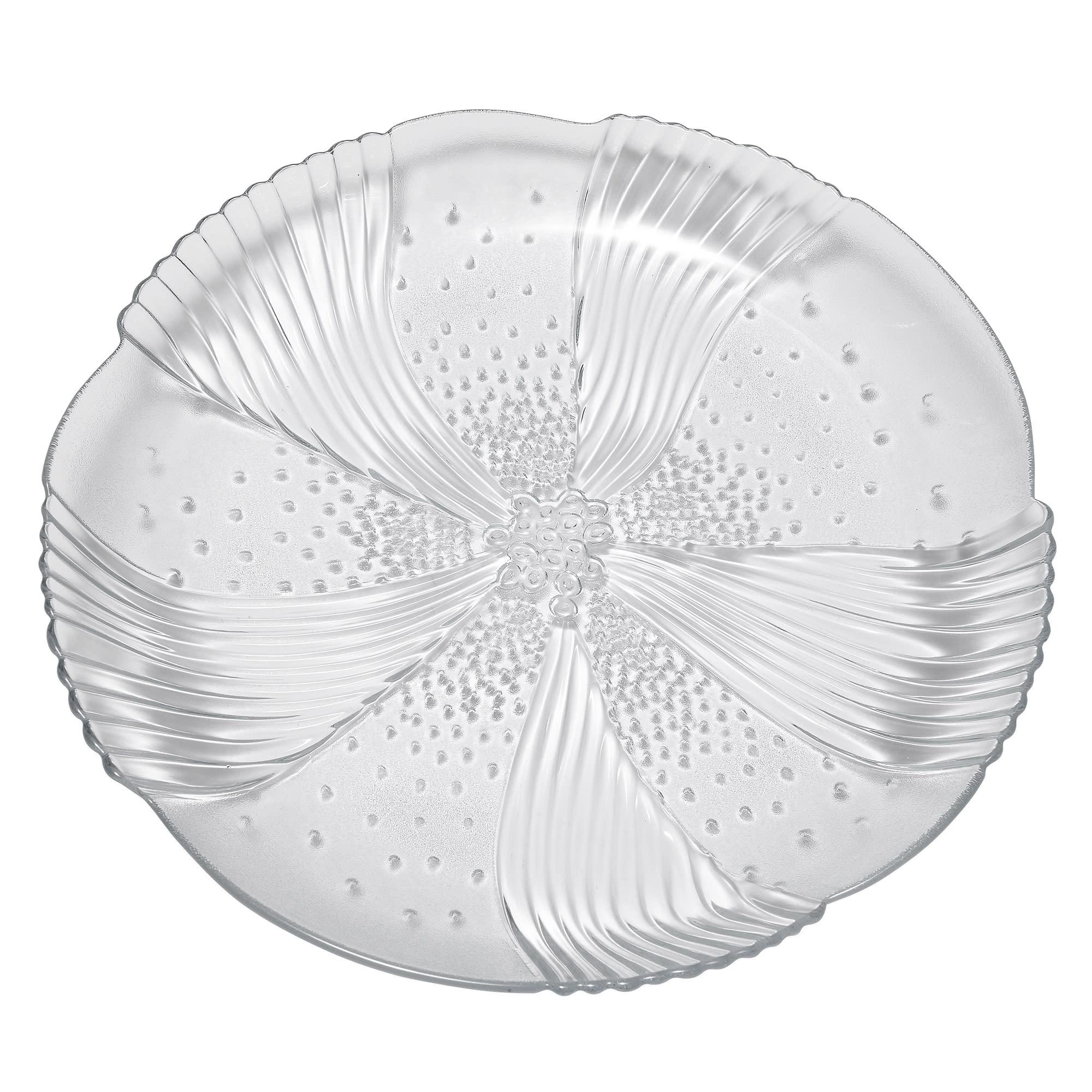 "Libbey 15506 7.58"" DuraTuff Harmony Glass Salad Plate"