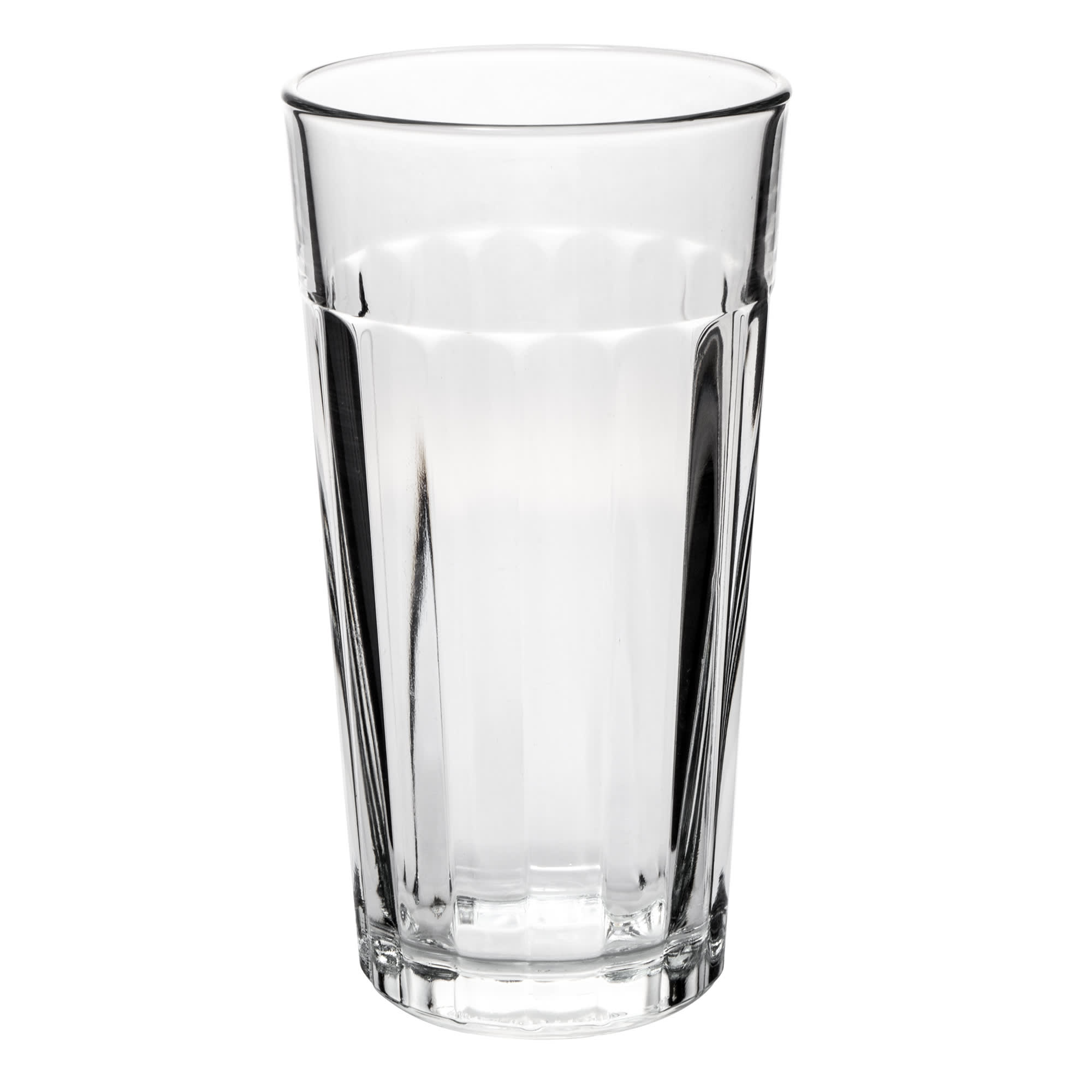 Libbey 15643 20 oz DuraTuff Paneled Glass Tumbler