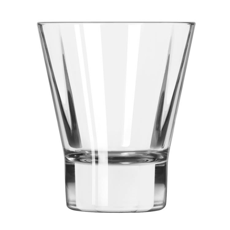 Libbey 15821 9-oz DuraTuff Quadra V Heavy Sham Flare Rocks Glass, Square Shape