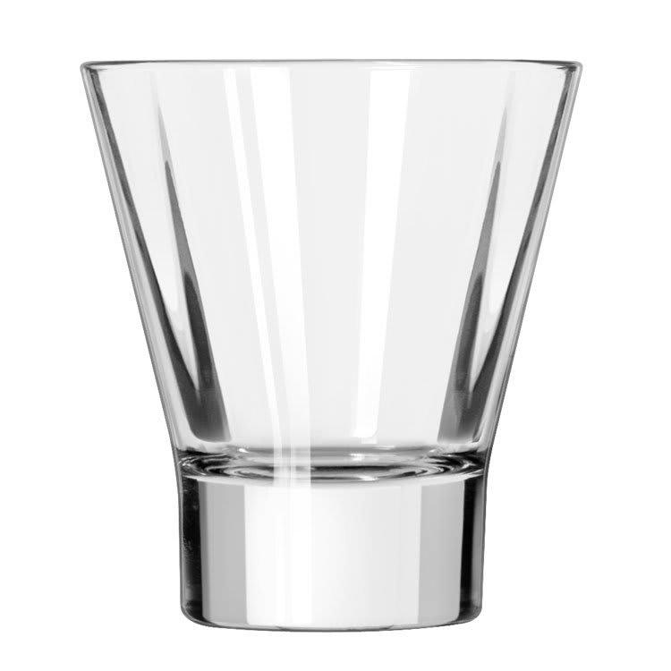 Libbey 15822 11-oz DuraTuff Quadra V Heavy Sham Flare Rocks Glass, Square Shape