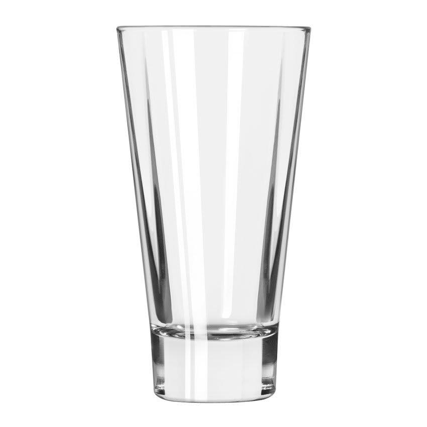 Libbey 15826 16-oz DuraTuff Quadra V Heavy Sham Flare Cooler Glass, Square Shape