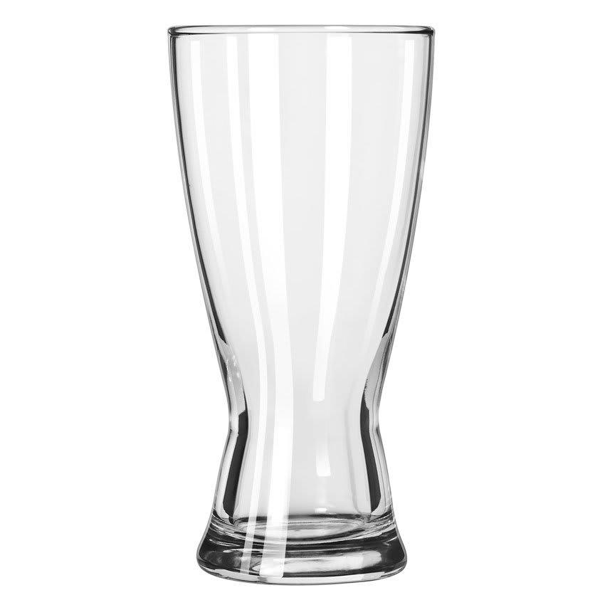 Libbey 183 15 oz Hourglass Design Pilsner Glass - Safedge Rim Guarantee