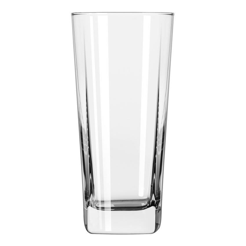 Libbey 2206 16 oz Quartet Square Base Cooler Glass